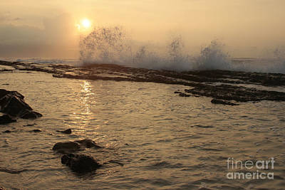 Digital Art - Sunset Hookipa Beach - Pailolo Channel - Maui North Shore Hawaii by Sharon Mau