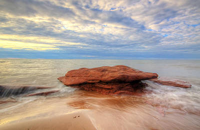 sunset hour at PEI National Park. Art Print