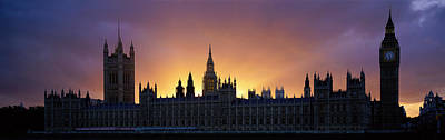 Sunset Houses Of Parliament & Big Ben Art Print