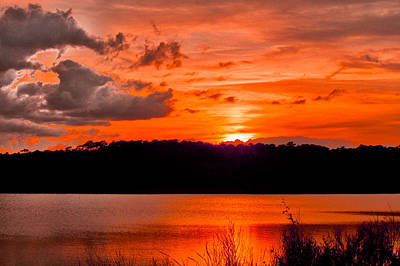 Photograph - Sunset Huntington Beach State Park by Bill Barber