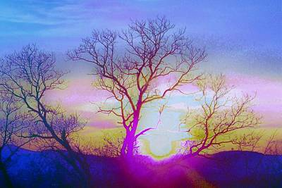 Art Print featuring the photograph sunset I by Shirley Moravec