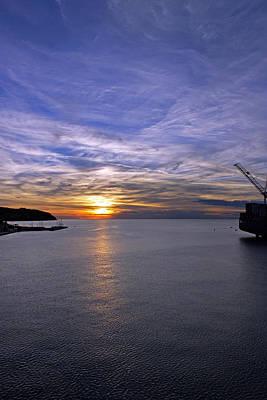 Sunset In Adriatic Art Print