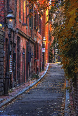 New England Fall Photograph - Sunset In Beacon Hill by Joann Vitali