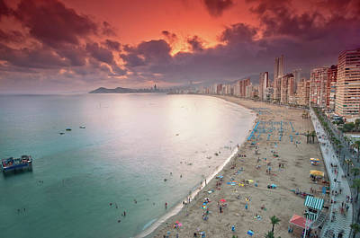 Photograph - Sunset In Benidorm by By N4n0