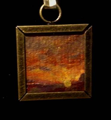 Wearable Art Painting - Sunset In Big Bend National Park by Bethany Jordan