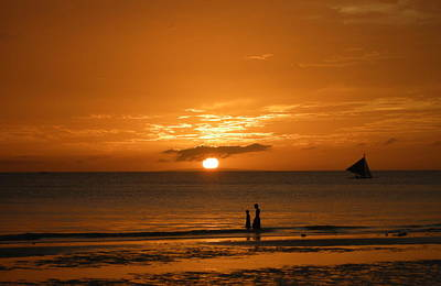 Sunset In Boracay Art Print