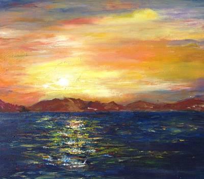 Sunset In Dahab Art Print
