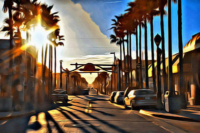 Sunset In Daytona Beach Art Print