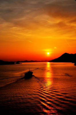 Photograph - Sunset In Dubrovnik Croatia by Doc Braham