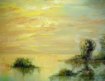 Painting - Sunset In Florida by Christa Friedl