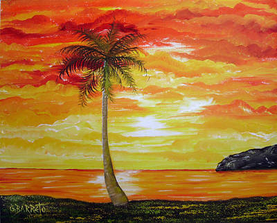 Sunset In Florida Art Print