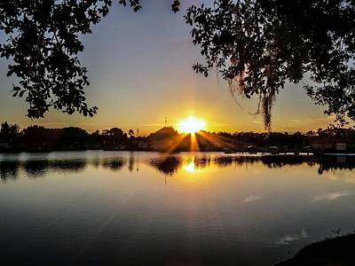 Sunset In Florida II Print by Zina Stromberg