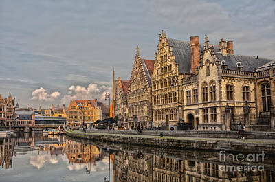 Sunset In Ghent Art Print by Patricia Hofmeester
