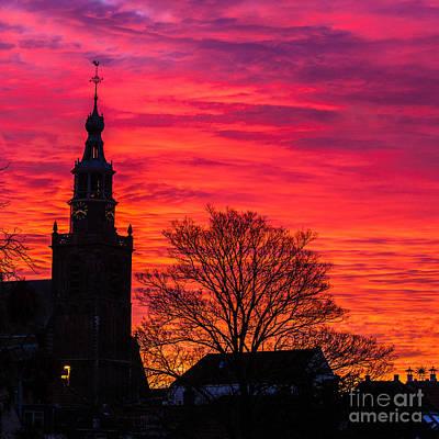 Photograph - Sunset In Gouda-1 by Casper Cammeraat
