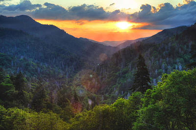 Photograph - Sunset In Great Smoky Mountain National Park by Coby Cooper