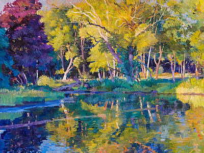 Painting - Sunset In Hinsdale Park by Judith Barath