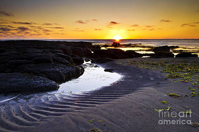 Art Print featuring the photograph Sunset In Iceland by Gunnar Orn Arnason