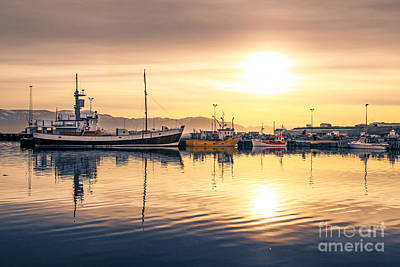 Photograph - Sunset In Iceland by JR Photography