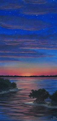 Sunset In Islamorada Art Print by J Barth