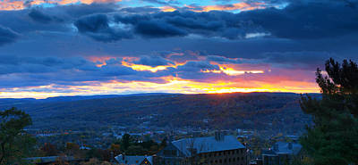 Sunset In Ithaca New York Panoramic Photography Art Print