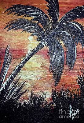 Caribbean Painting - Sunset In Jamaica by Collin A Clarke