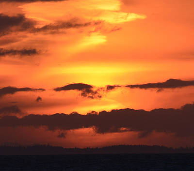 Photograph - Sunset In Layers by Ronda Broatch