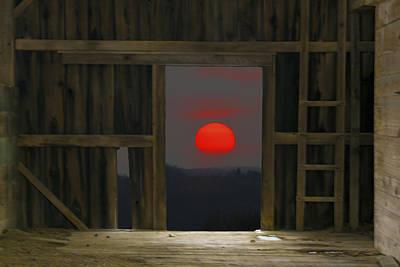 Sunset In Leraysville Art Print by David Simons