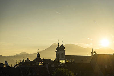 Photograph - Sunset In Lucerne by For Ninety One Days