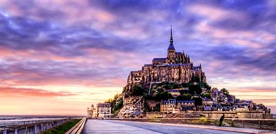 Photograph - Sunset In Mont Saint Michel by Weston Westmoreland