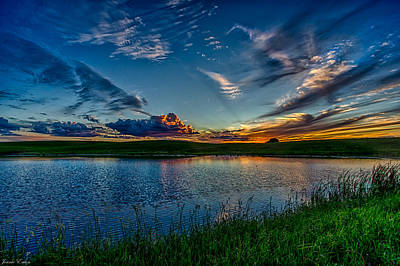 Sunset In Montana Art Print by Jeanie Eaton
