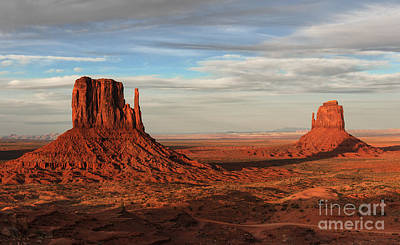 Photograph - Monument Valley Sunset - Utah by Sandra Bronstein