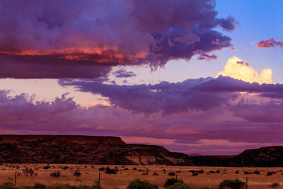 Photograph - Sunset In New Mexico by Ben Graham