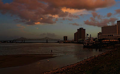 Photograph - Sunset In New Orleans by Judy Vincent