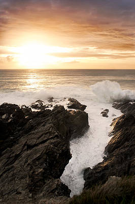 Sunset In Newquay Print by Francesco Emanuele Carucci