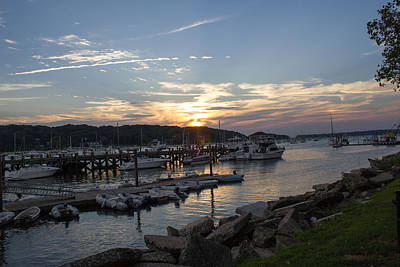Sunset In Northport Art Print
