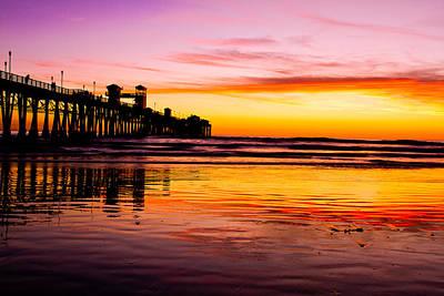Photograph - Sunset In Oceanside by Ben Graham