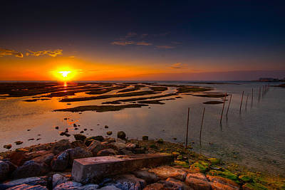 Photograph - Sunset In Okinawa by Chris Rose