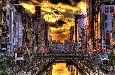 Sunset In Osaka Art Print by SEOS Photography