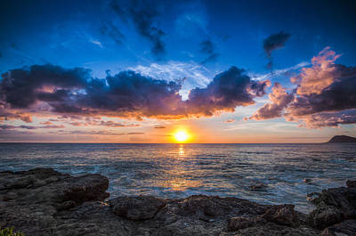 Sunset In Paradise Art Print by Mike Lee