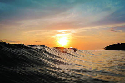 Waves Photograph - Sunset In Paradise by Nicklas Gustafsson