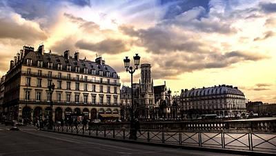 Photograph - Sunset In Paris by Radoslav Nedelchev
