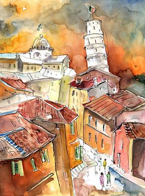 Sunset In Pisa Art Print by Miki De Goodaboom