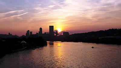 Sunset In Pittsburgh Art Print