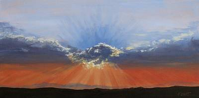 Painting - Sunset In Red by Gene Foust