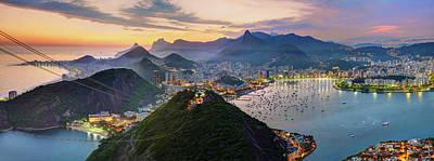 Sunset In Rio De Janeiro Art Print by Anna Gibiskys