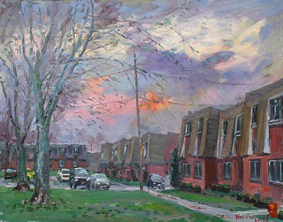 Apartment Painting - Sunset In Royal Park Apartments by Ylli Haruni