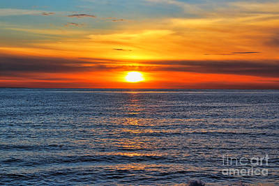 Sunset In San Clemente Print by Mariola Bitner