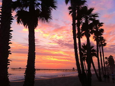 Sunset In San Clemente Art Print