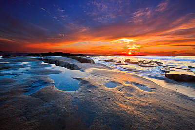 Photograph - Sunset In San Diego by Ben Graham
