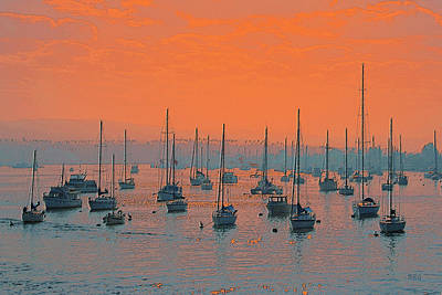 Photograph - Sunset In Santa Catalina Harbor by Ben and Raisa Gertsberg